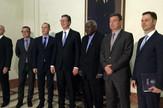 Delegacija Srbije sa predsednikom Vucicem i predsednikom skupstine Ernandesom_preview