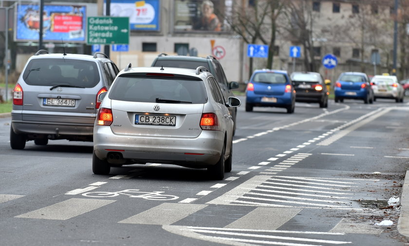 Pasy rowerowe w Łodzi
