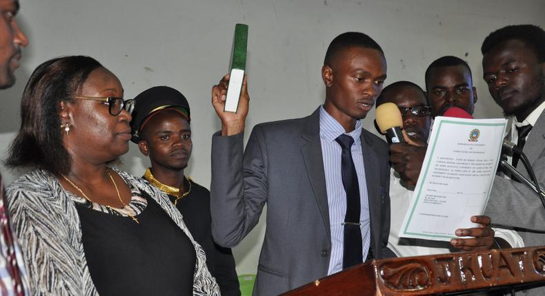 JKUAT Student Leader Clinton Osoro
