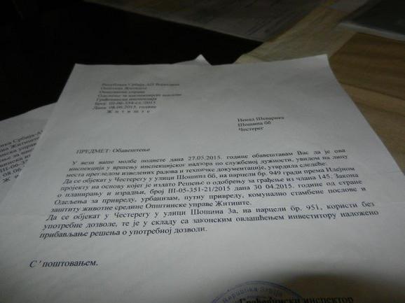Inspekcija je utvrdila da je objekat bez upotrebne dozvole