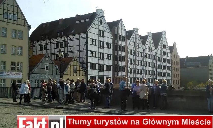 Tłumy turystów w Gdańsku