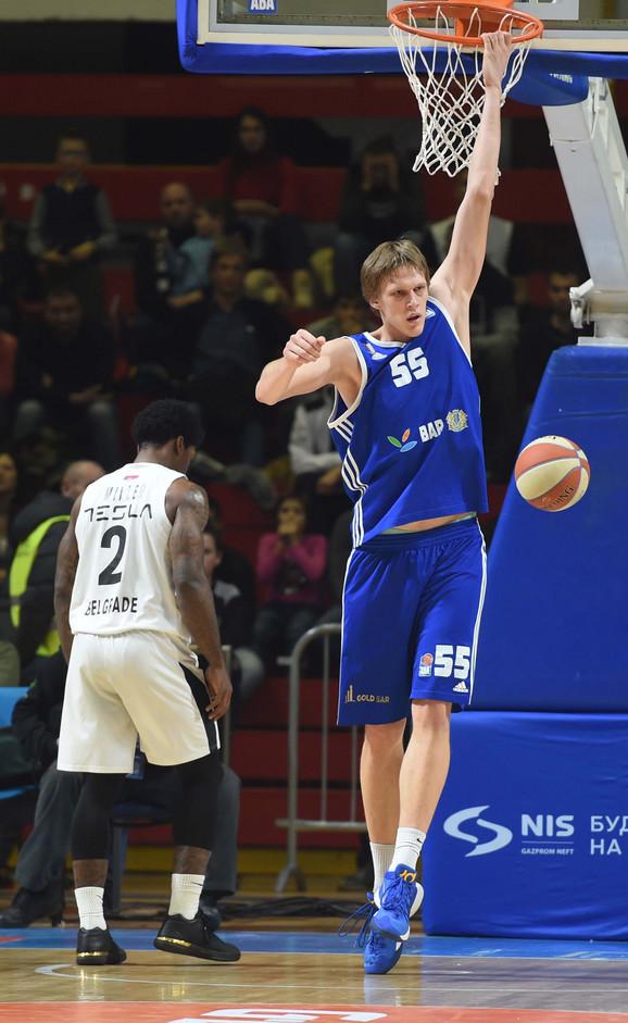 Uroš Luković, najkorisniji igrač Mornara u MVP trci ligaškog dela ABA lige