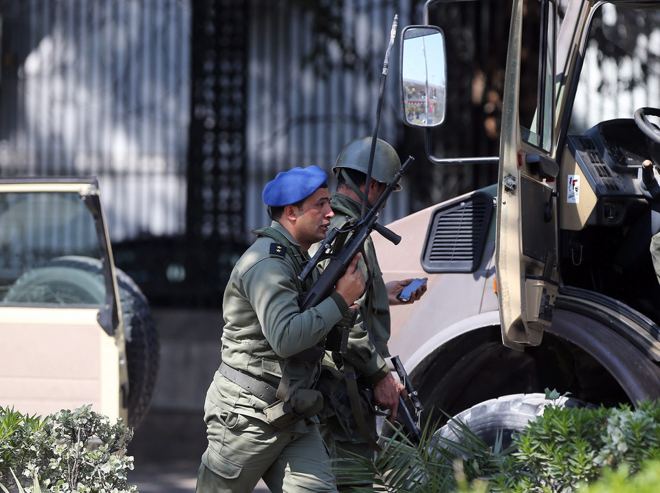 TUNISIA UNREST SECURITY OPERATION (Eight reported killed as militants attack museum near Tunisian Parliament building)
