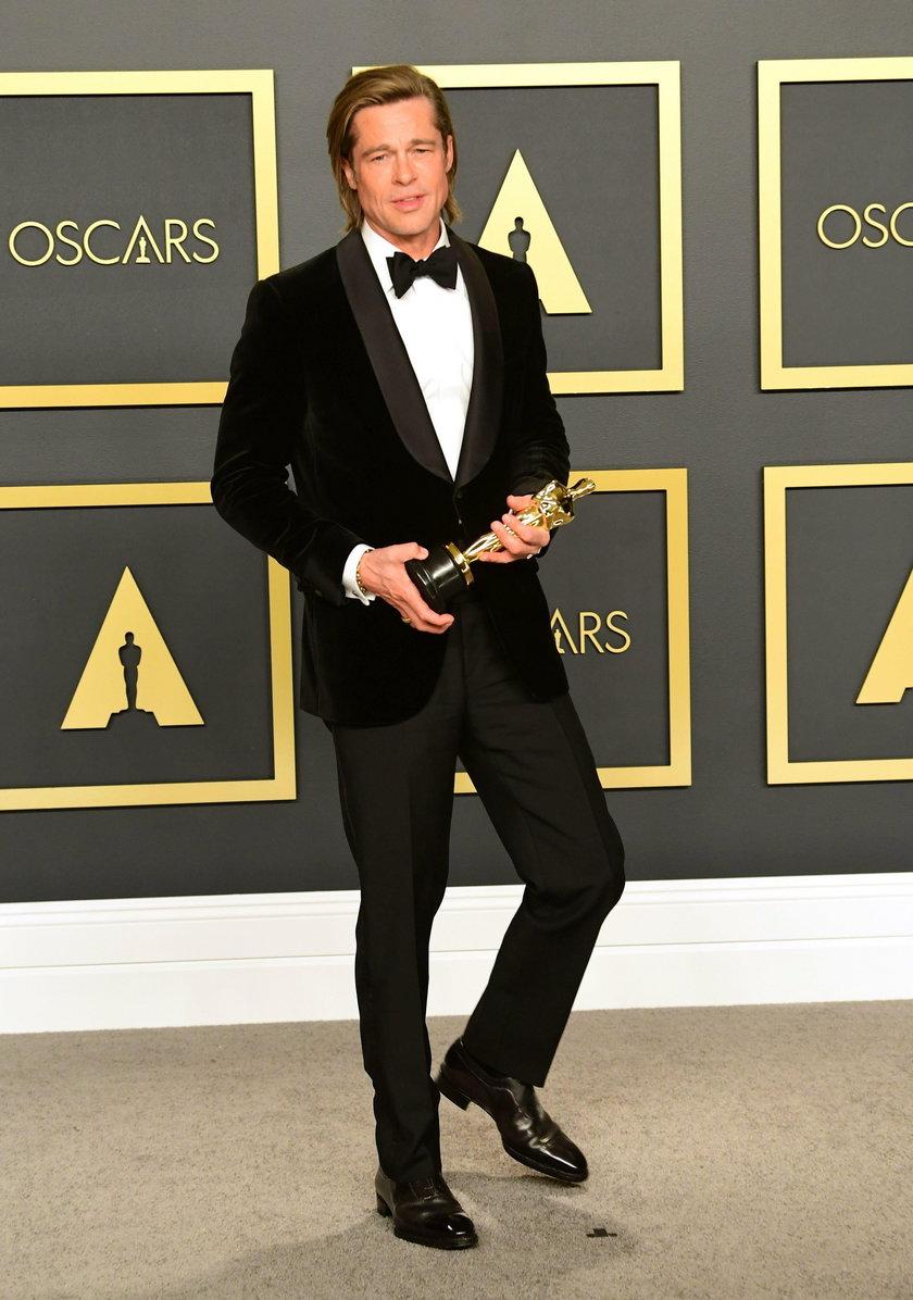 Brad Pitt na 92. gali rozdania Oscarów
