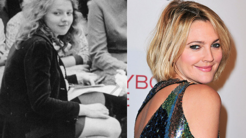Magda Gessler w wieku 16 lat (fot. pochodzi z jej konta w serwisie Instagram) oraz Drew Barrymore - podobne?