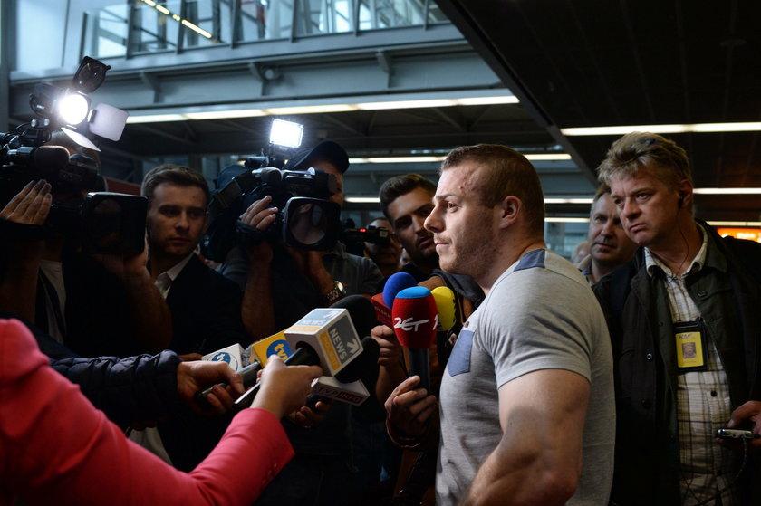"""Zieliński wrócił do kraju. """"Nic nie brałem"""""""