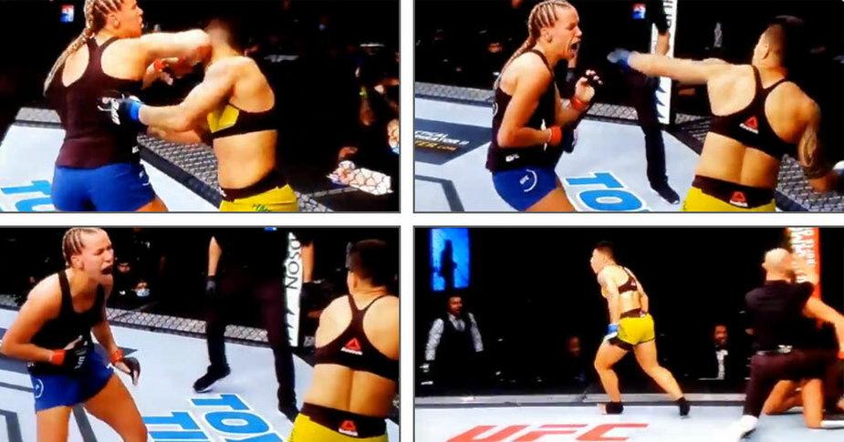 Nokaut ciosem na korpus w walce kobiet! Jessica Andrade pokonała Katlyn Chookagian (WIDEO)