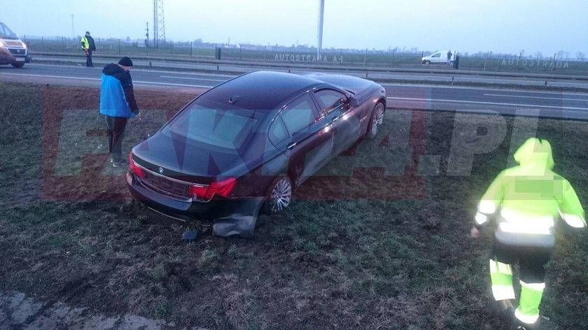Wypadek limuzyny Andrzeja Dudy