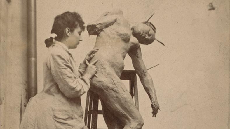 "Camille Claudel rzeźbi ""Sakountalę"", materiały prasowe Musée Camille Claudel"