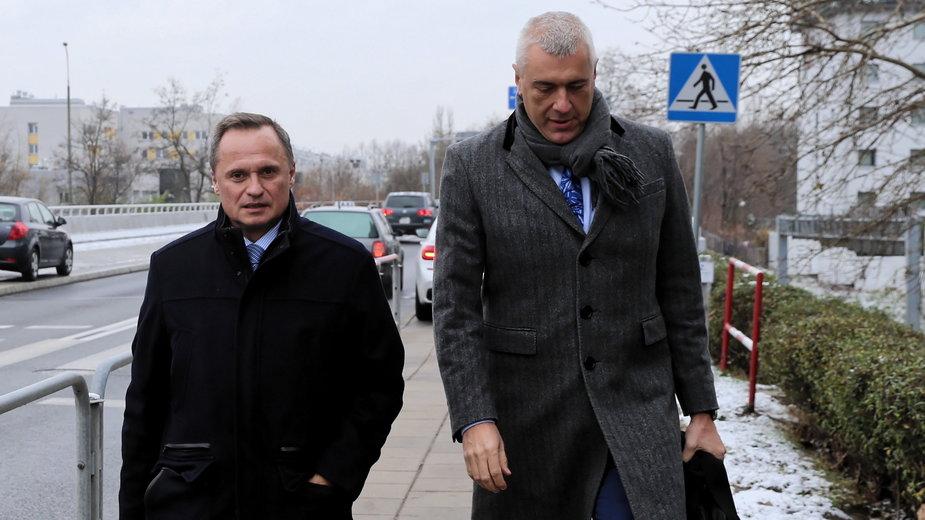 Leszek Czarnecki i jego obrońca Roman Giertych