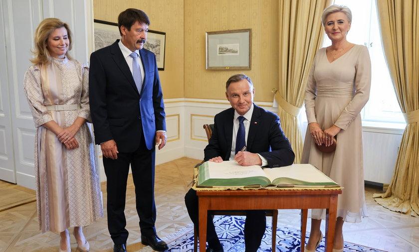 Andrzej Duda na Węgrzech.