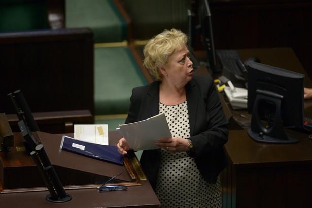 Pierwsza prezes Sądu Najwyższego Małgorzata Gersdorf podczas posiedzenia Sejmu