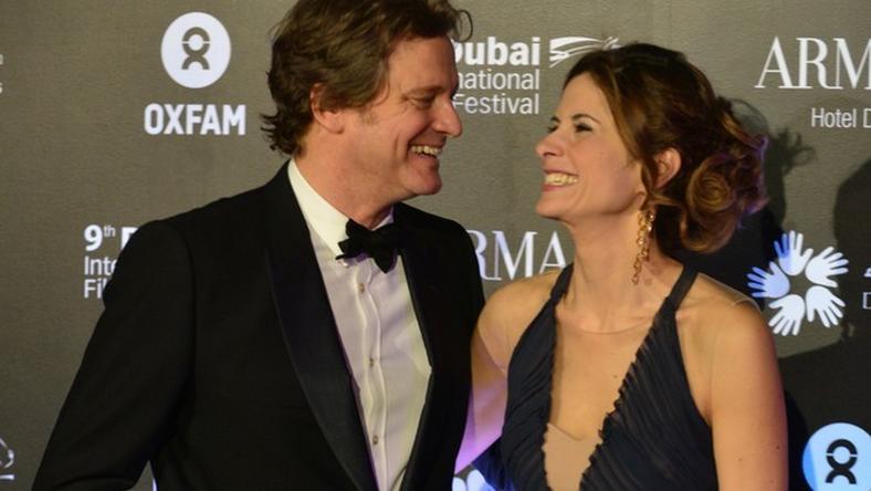 Colin Firth i Livia Giuggioli / fot. East News