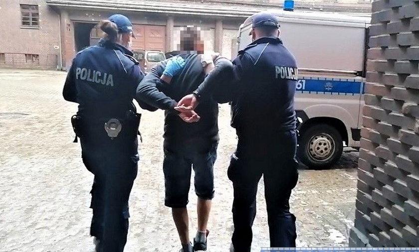 Awanturujący się mężczyzna zaatakował policjanta nożem w Kątach Wrocławskich