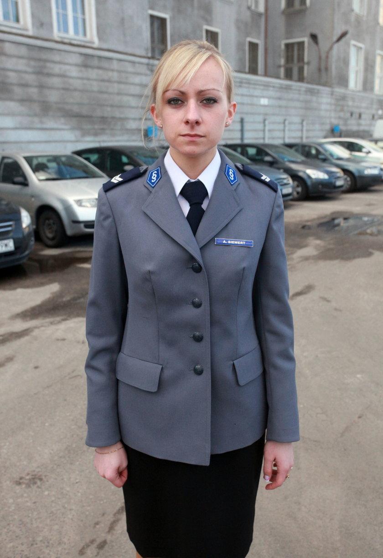 Aleksandra Siewert zpolicji w Gdańsku