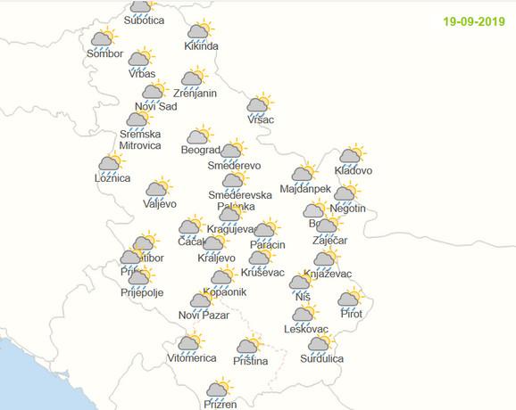 U četvrtak će izgleda za kišu biti u gotovo svim krajevima zemlje