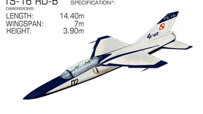 Maszyna miała być napędzana dwoma silnikami SO-2 z dopalaniem. W wyniku przedłużających się prac nad silnikami, opracowano wersję TS-16RD z radzieckim silnikiem RD-9B z MiG-19, a w 1963 r. wykonano jego drewnianą makietę w skali 1:1.