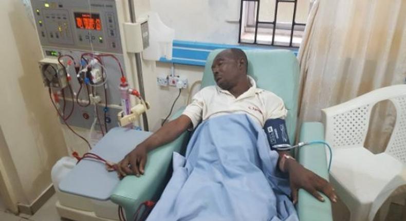 Adeshina Adesanya on his sick bed.
