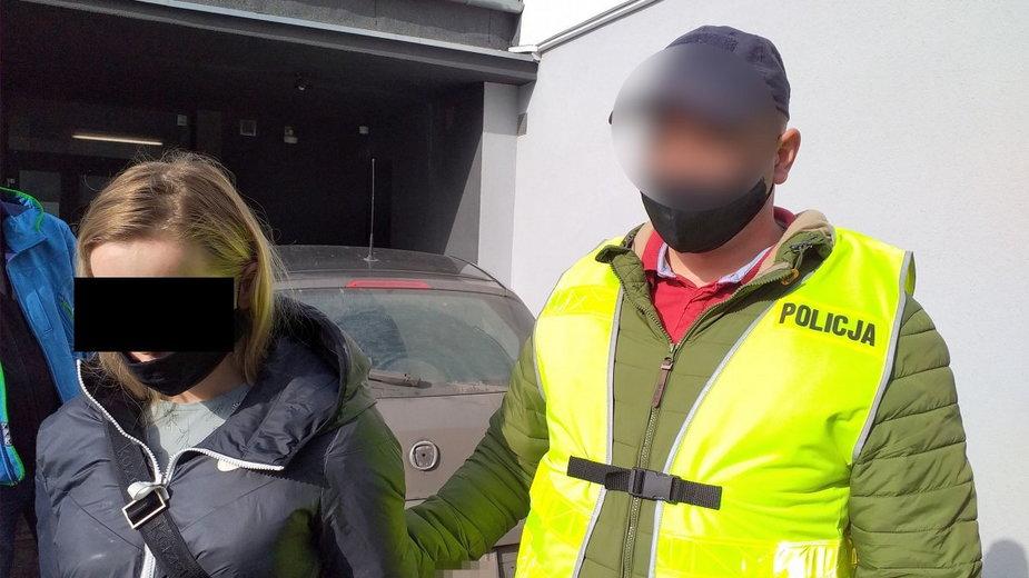 Kobietę zatrzymała policja