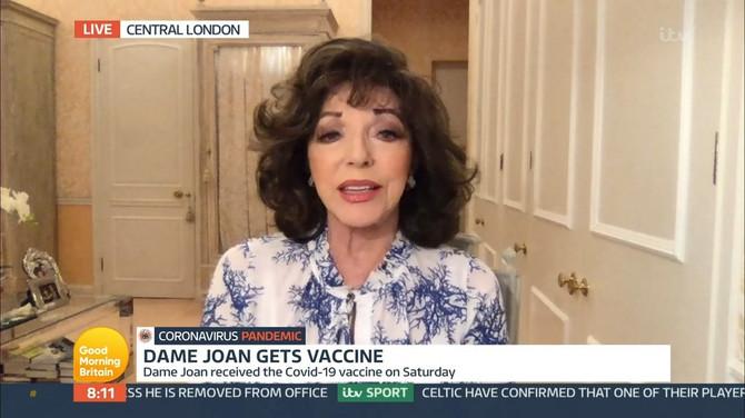 """Džoan Kolins u emisiji """"Dobro jutro, Britanija"""""""