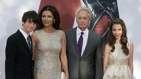 """""""Ant-Man"""": rodzina Douglasów na premierze w Londynie"""