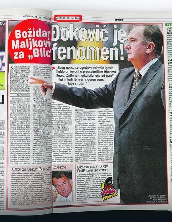 Božidar Maljković je još pre 12 godina u