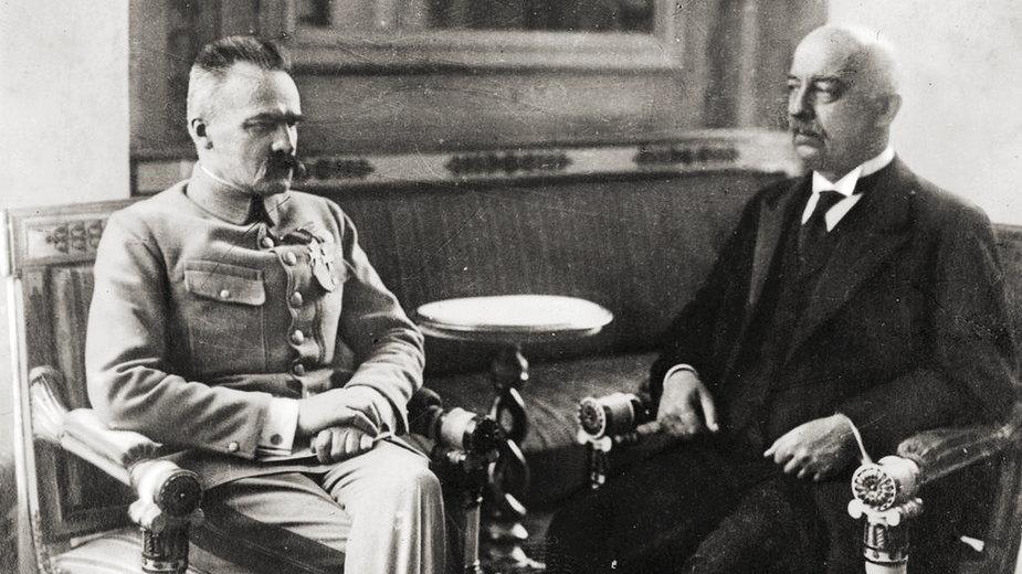 Gabriel Narutowicz z Józefem Piłsudskim