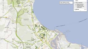 Ścieżki rowerowe w Polsce na Mapach Google