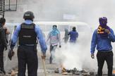 Honduras, policija, demonstracije EPA -  Gustavo Amador