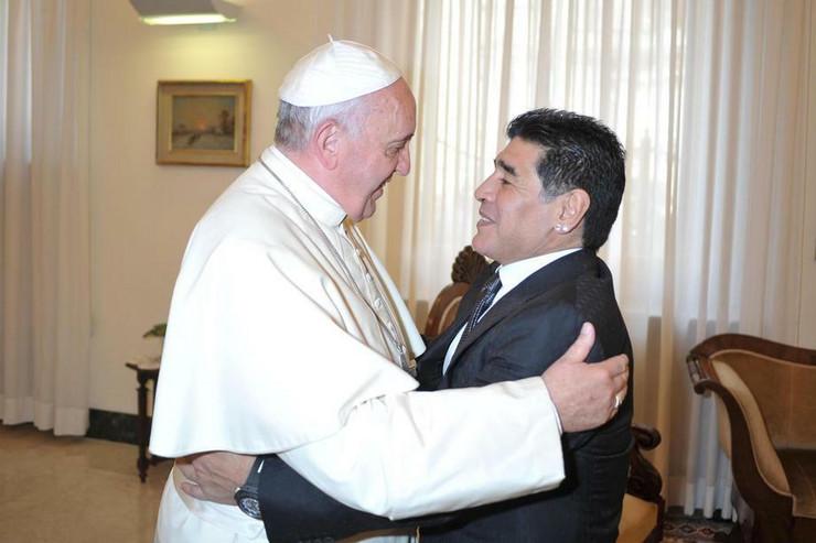 Maradona i papa Franja