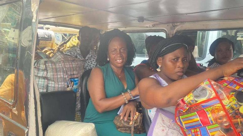 Comfort Doyoe Cudjoe Ghansah in trotro