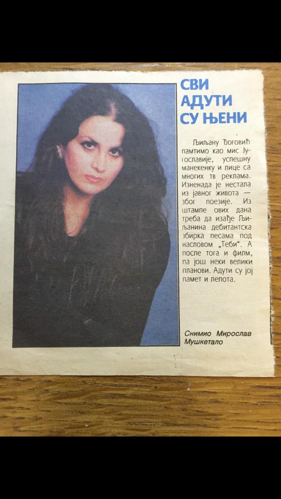 Dina čuva novinske članke o Ljiljani