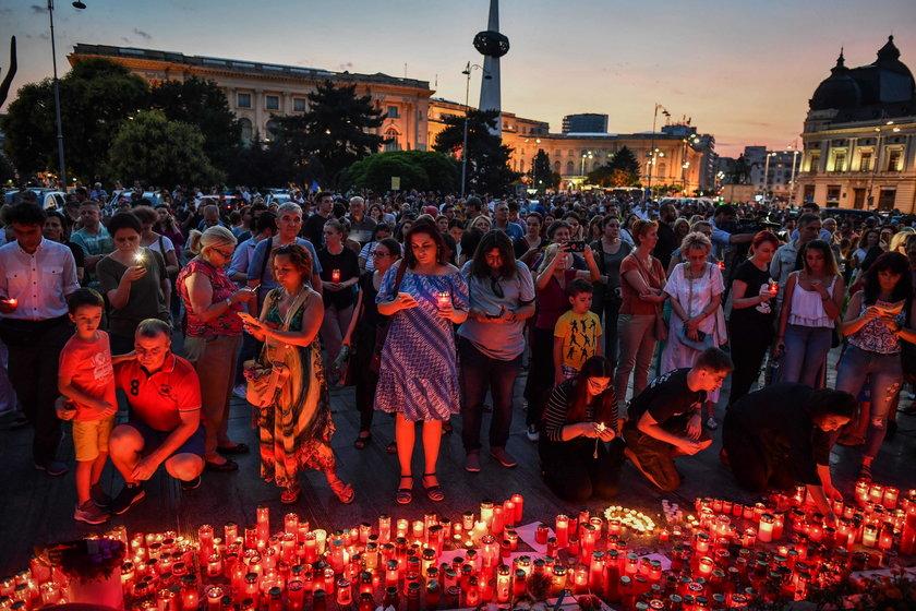ROMANIA-CRIME-PROTEST