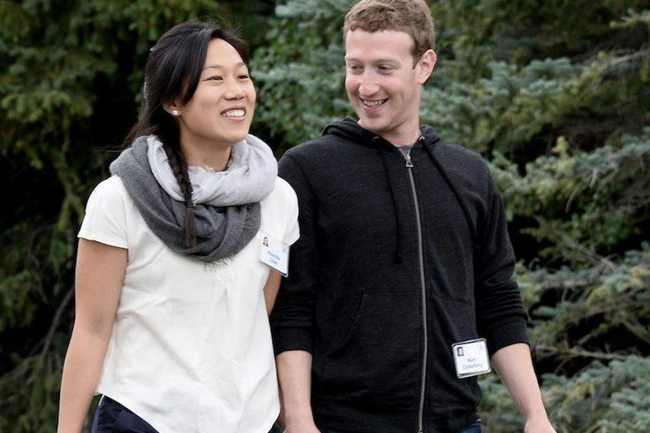 Mark Zuckerberg, chief executive officer and founder  Facebook Priscilla Chan