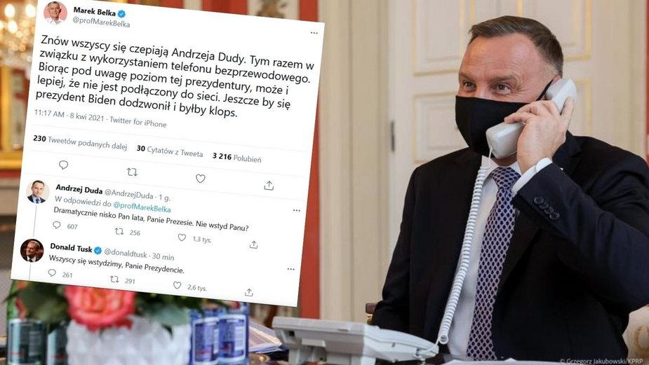 Na Twitterze wymiana zdań prezydenta i byłych premierów