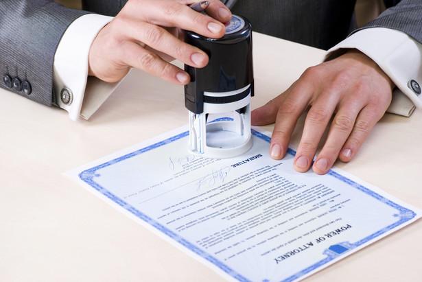 Składanie oświadczenia u notariusza