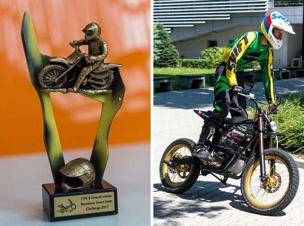 Lem Falcon podczas zawodów Smart Moto Challenge w Barcelonie zdobył pierwsze miejsce w konkurencji statycznej, gdzie oceniano biznesplan oraz szczegóły techniczne pojazdu oraz w konkurencji dynamicznej, gdzie motocykl przechodził testy sprawnościowe i na przyśpieszenie. Pojazd brał udział również w wyścigach na torze asfaltowymi i crossowym. (nlat) PAP/Maciej Kulczyński