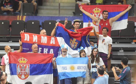 Navijači na meču Srbije i Argentine