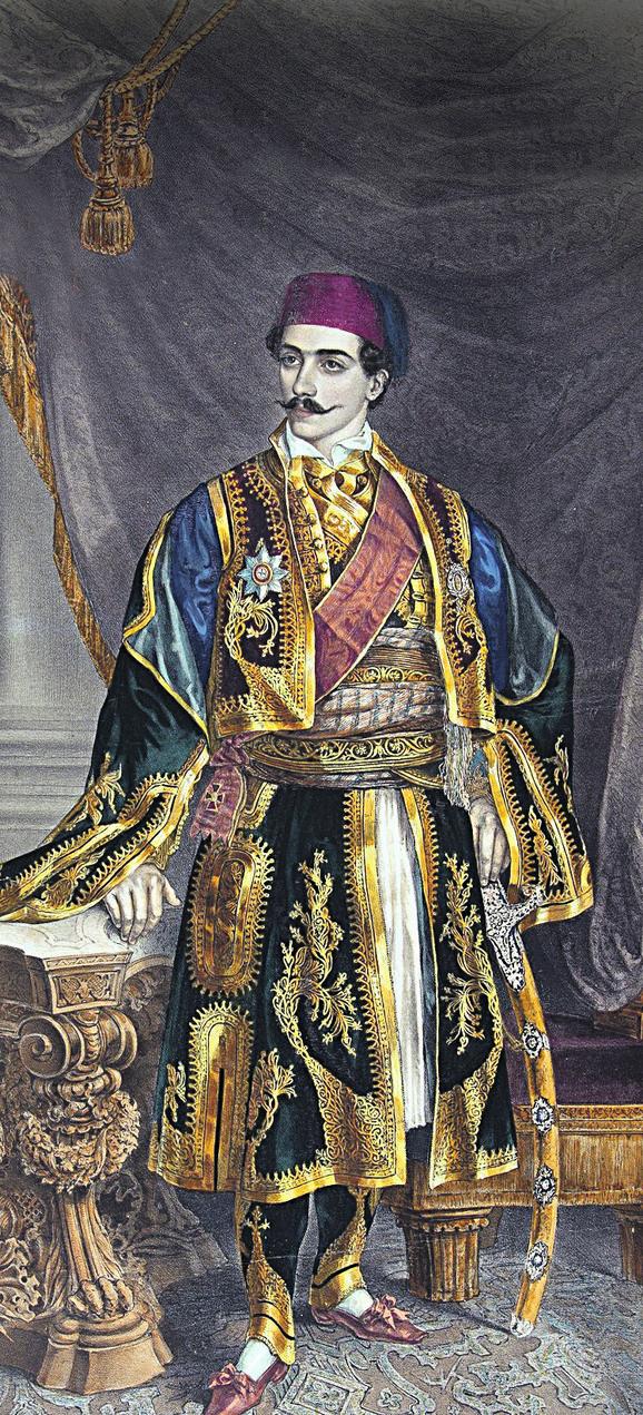 Mihailo Obrenović, 1848.