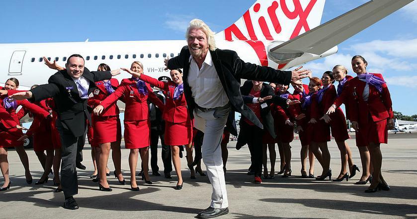 Richard Branson, jak wielu ludzi, uwielbia podróżować - ale może robić to własnymi samolotami