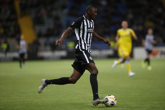 Partizan je trijumfovao 1:2 u Kazahstanu, a heroj crno-belih na tom meču bio je Umar Sadik