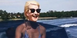 Małgorzata Kożuchowska w skąpym bikini szaleje na motorówce