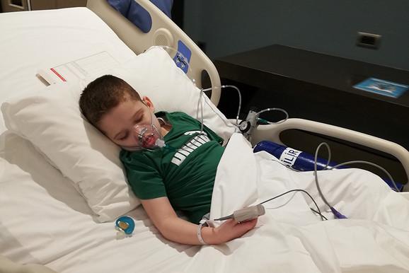 Danin u bolničkom krevetu