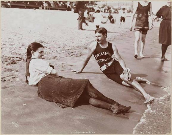 Nikola Tesla - instruktor plivanja?