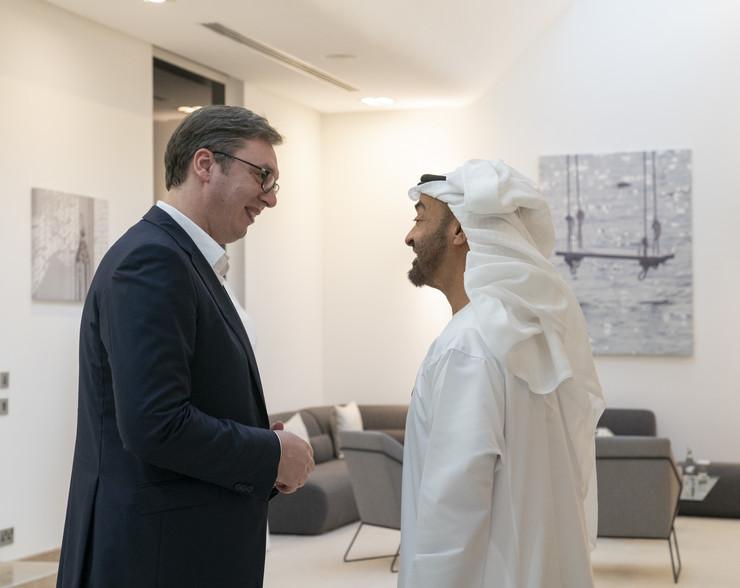 Predsednik Vucic i seik Mohamed bin Zajed Promo