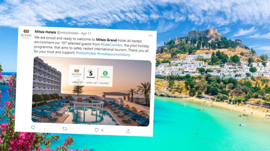 Holenderscy turyści spędzą osiem dni w greckim kurorcie w ramach eksperymentu