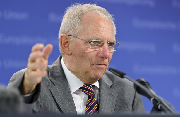 Niemiecki minister finansów Wolfgang Schaeuble