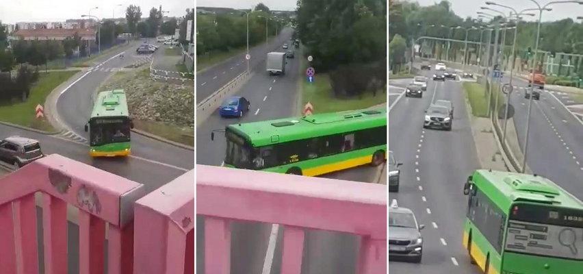 Kierująca autobusem wjechała pod prąd. Została ukarana