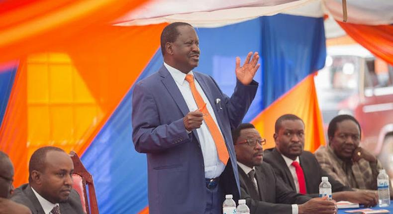 File image of  a section of ODM party leadership at a past Parliamentary Group Meeting