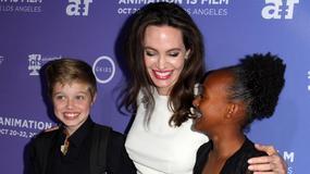 """Angelina Jolie z córkami na premierze filmu """"The Breadwinner"""""""
